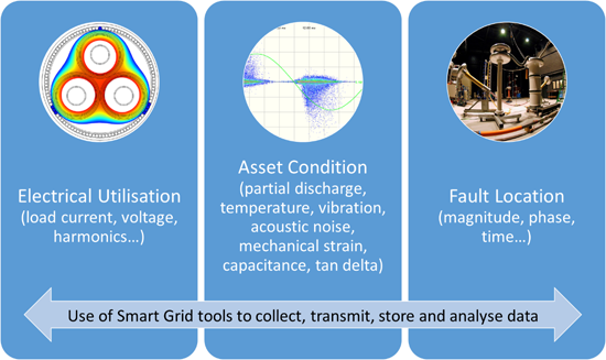 Examples of information which could be made available by Smart Grid tools