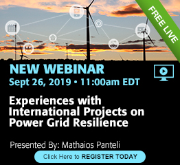 Webinar: Experiences with International Projects on Power Grid Resilience