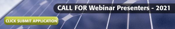 Call for Webinar Presenters